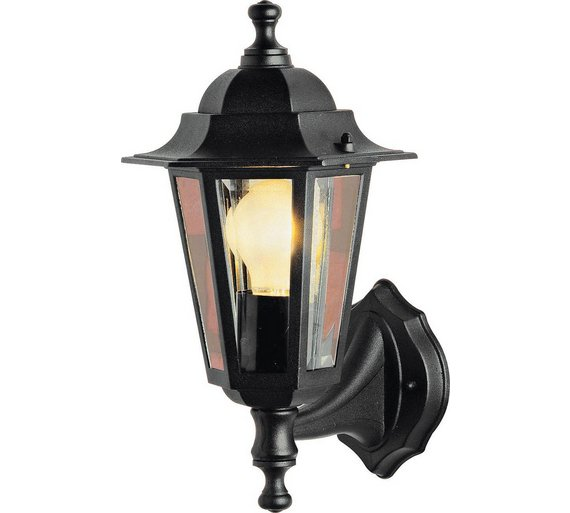 Buy home outdoor wall lantern black wall lights and lanterns argos home outdoor wall lantern black workwithnaturefo