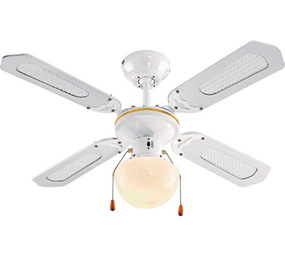 Buy home ceiling fan white ceiling and wall lights argos home ceiling fan white mozeypictures