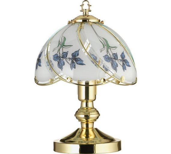 Buy home iris touch table lamp brass at argos your click to zoom aloadofball Gallery
