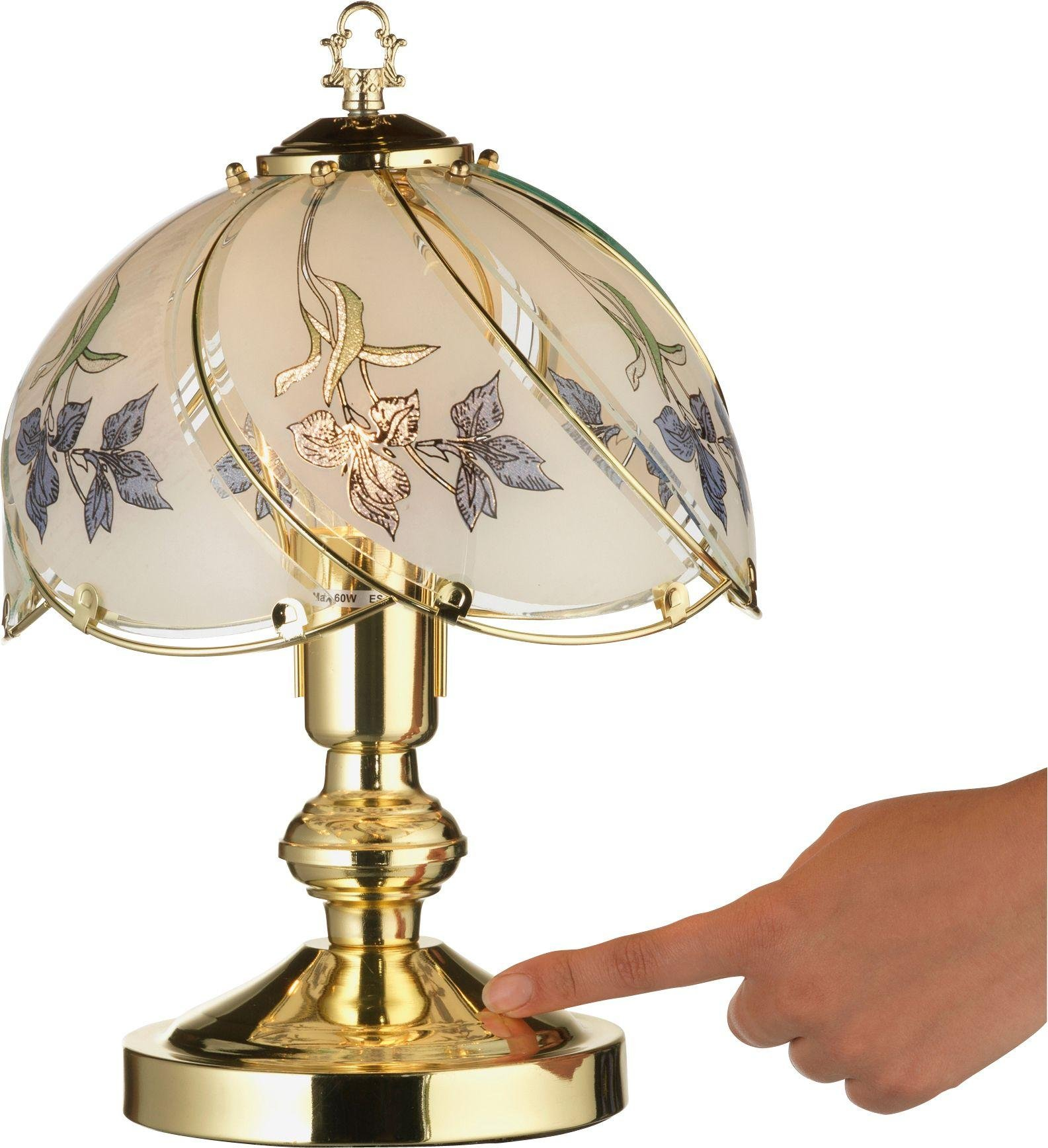 Add The Finishing Touch To Your Home With This Pretty Table Lamp With A  Dome Shade And A Decorative Iris Pattern.
