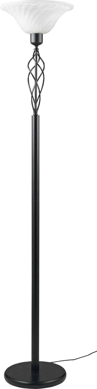 Sale On Home Cameroon Uplighter Floor Lamp Black