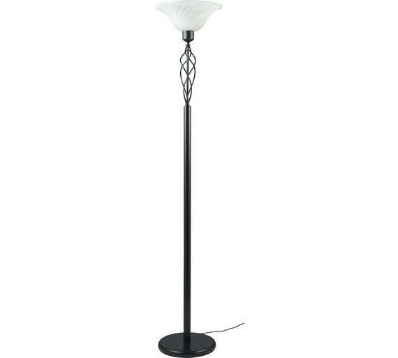 buy home cameroon uplighter floor lamp black at argosco With living cameroon uplighter floor lamp black