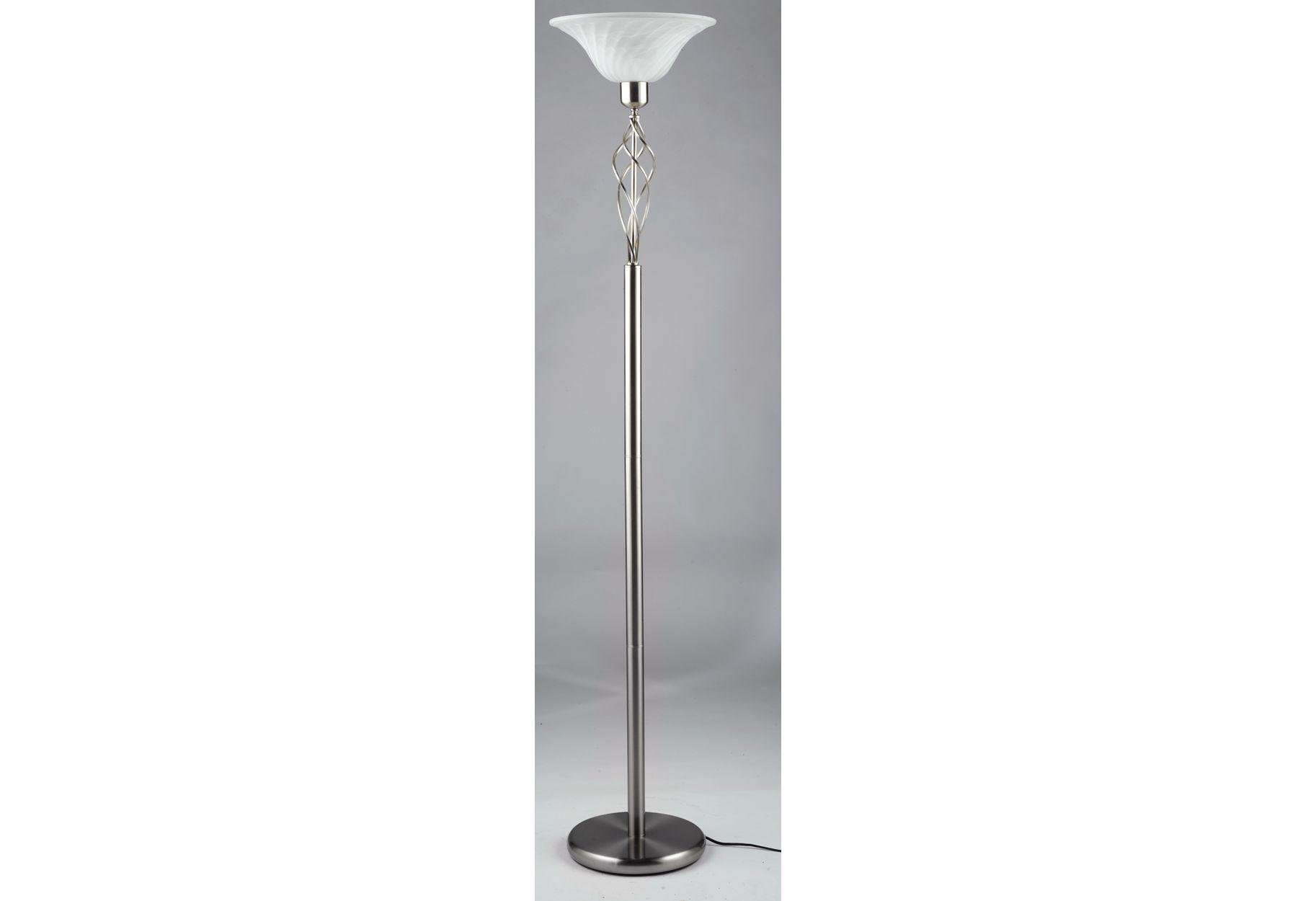 Argos Home Cameroon Uplighter Floor Lamp - Satin Nickel Eff