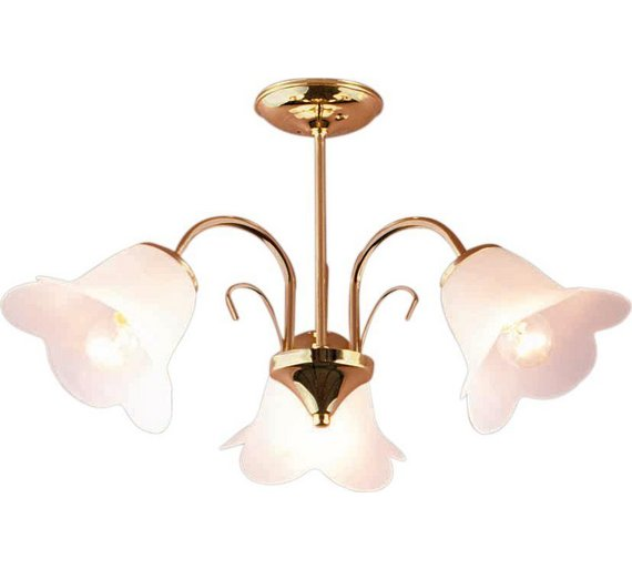 Buy Argos Home Carolina Light Ceiling Fitting Polished Brass - Kitchen light fixtures argos