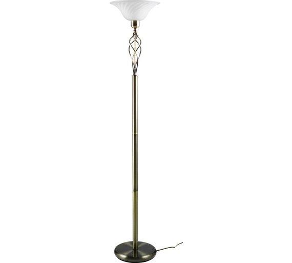 Buy Brass Floor Lamp: Buy HOME Cameroon Uplighter Floor Lamp