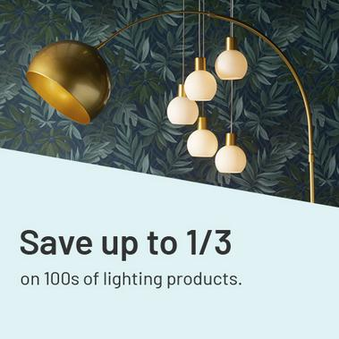Save up to 1/3 on 100s of lighting products.