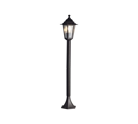 Buy home garden post light black wall lights and lanterns argos home garden post light black aloadofball Image collections