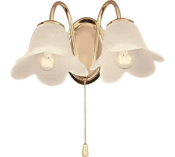 Buy home carolina twin wall light polished brass at argos home carolina twin wall light polished brass mozeypictures Gallery