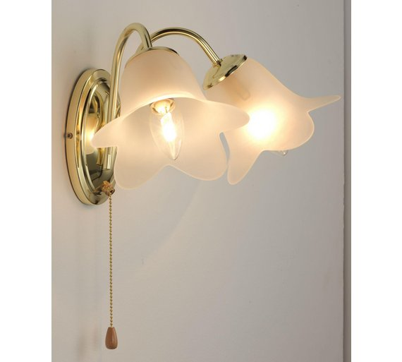 Buy HOME Carolina Twin Wall Light - Polished Brass at Argos.co.uk - Your Online Shop for Ceiling ...