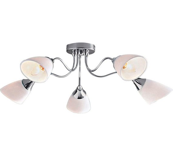 Buy home cisco 5 light ceiling fitting chrome ceiling and wall home cisco 5 light ceiling fitting chrome aloadofball Choice Image