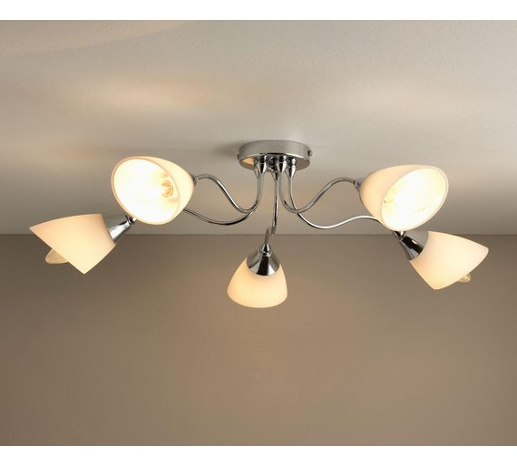 Buy home cisco 5 light ceiling fitting chrome ceiling and wall click to zoom aloadofball Image collections