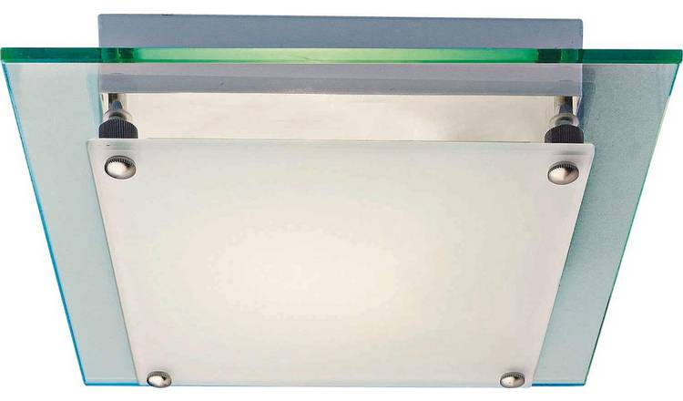 Argos Home Square Frosted Glass Flush Ceiling Fitting