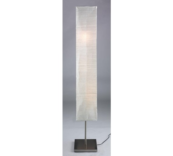 Buy HOME Square Paper Shade Floor Lamp - Silver | Floor lamps | Argos