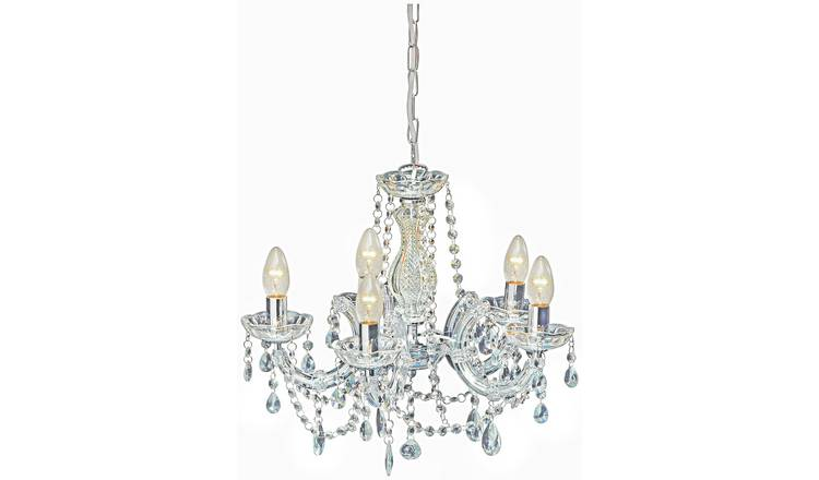 Buy Argos Home Inspire 5 Light Chandelier Clear Ceiling Lights Argos