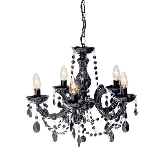 Buy collection inspire 5 light chandelier black at argos collection inspire 5 light chandelier black aloadofball Images