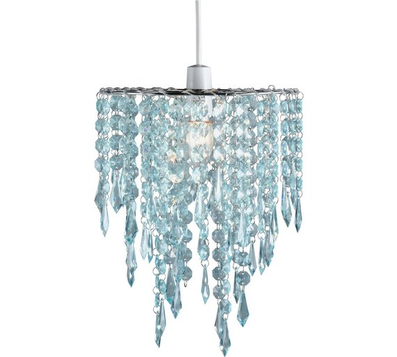 Buy HOME Beaded Shade - Duck Egg at Argos.co.uk - Your Online Shop for Lamp shades, Lighting ...