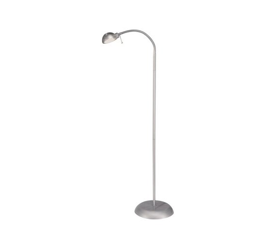 Buy home reading light floor lamp silver floor lamps argos home reading light floor lamp silver aloadofball Image collections