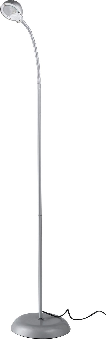 home reading light floor lamp  silver.