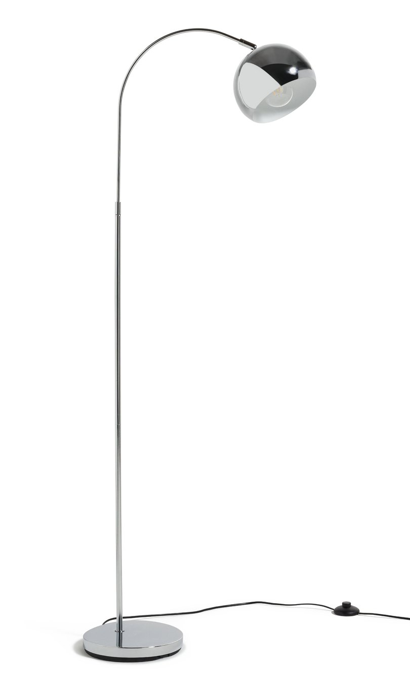 Argos Home Curva Floor Lamp - Chrome