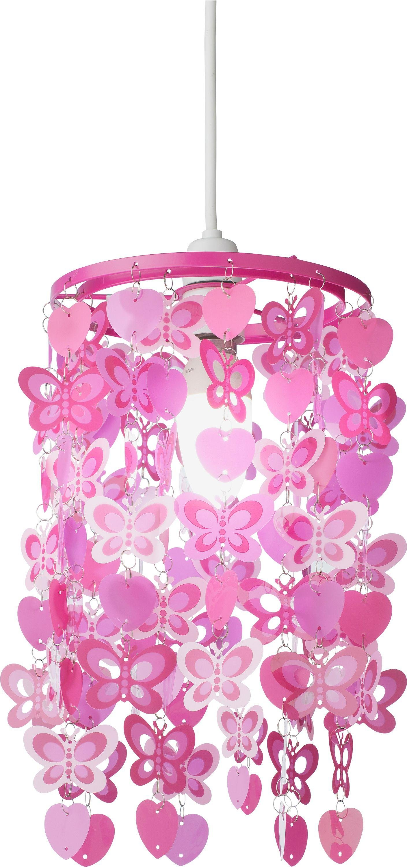 Home spotted butterfly pink light shade
