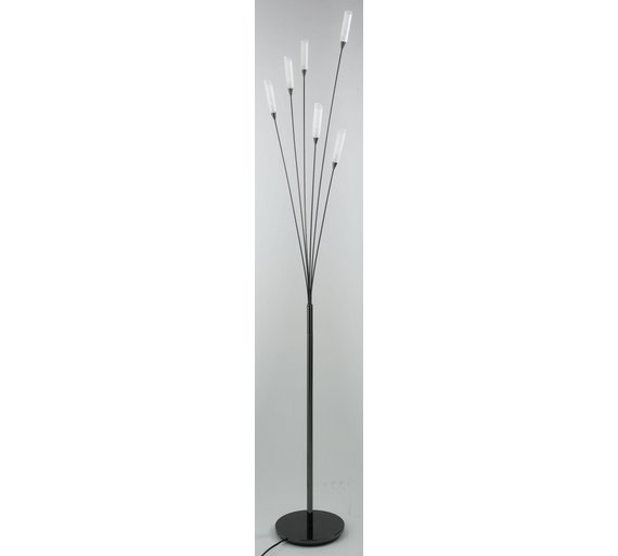 Buy home hyatt 6 light floor lamp black chrome at argos for Hyatt 6 light floor lamp black chrome