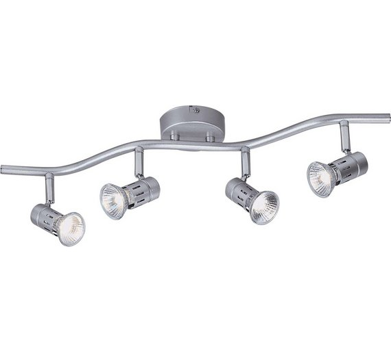Buy Argos Home Asber Light Wave Ceiling Fitting Silver Ceiling - Kitchen light fixtures argos