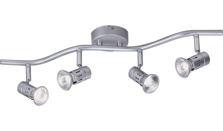 Argos Home Asber 4 Light Wave Ceiling Fitting - Silver