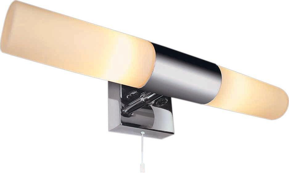 Bathroom Light Fixtures Argos buy home 2 light bathroom halogen wall fitting - silver at argos