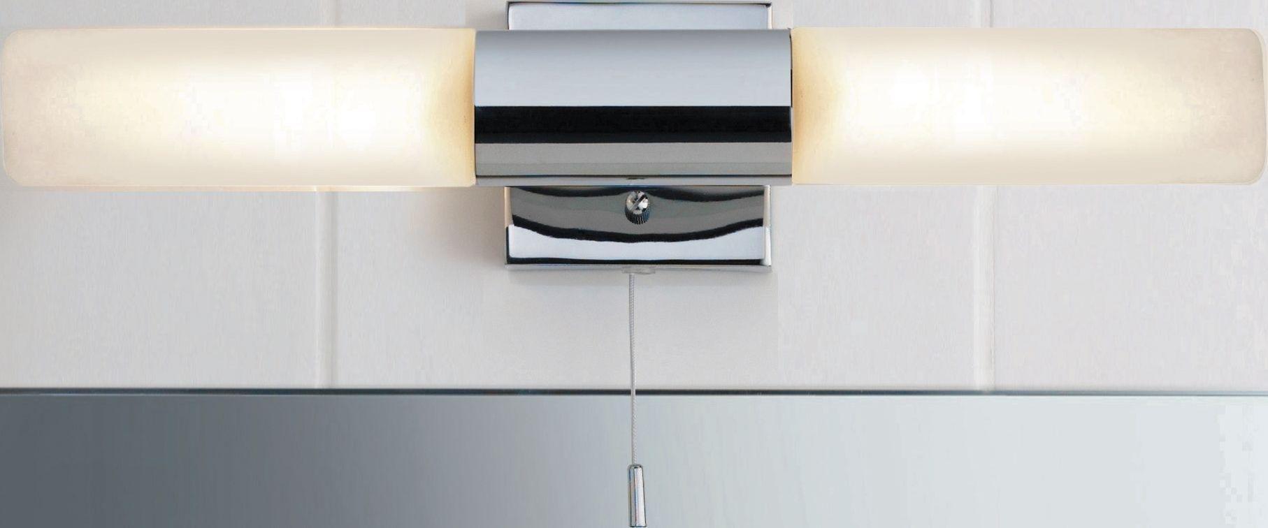 Bathroom Light Pulls Argos buy home 2 light bathroom halogen wall fitting - silver at argos