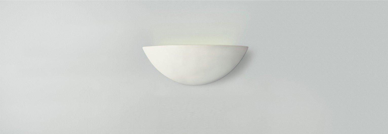 Argos Home Mars Ceramic Wall Light - White