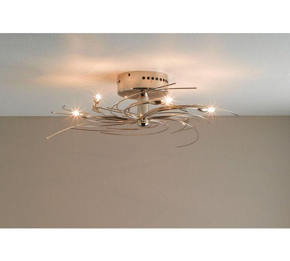 Buy home spiral 6 light ceiling fitting chrome at argos click to zoom aloadofball Choice Image