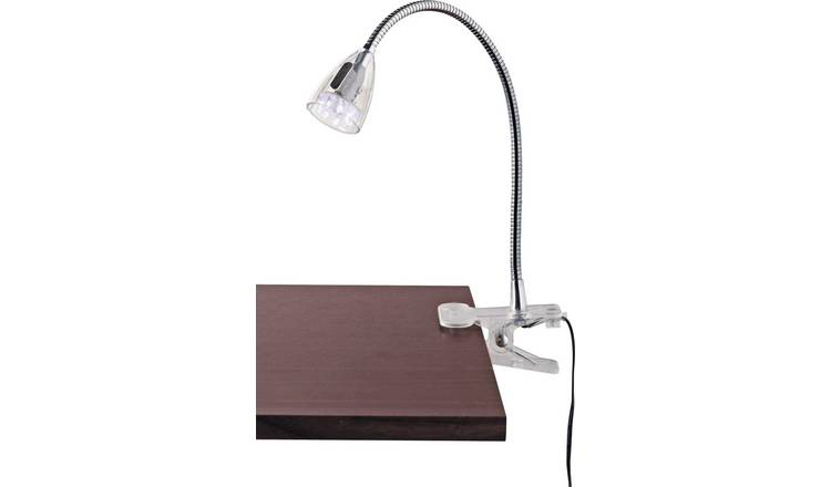 Argos Home LED Clip Desk Lamp - Clear