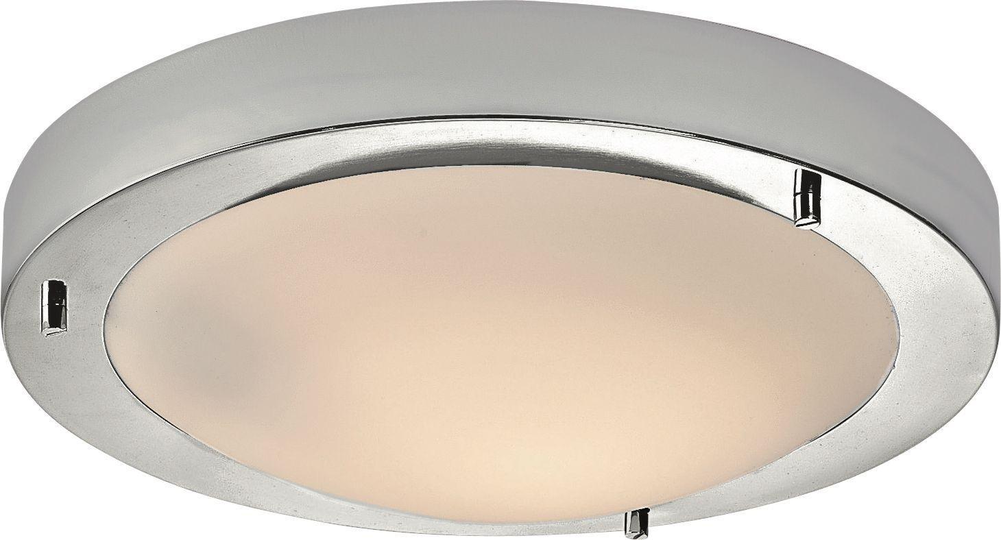 Bathroom Lights Edinburgh buy home frosted glass flush bathroom ceiling fitting - chrome at
