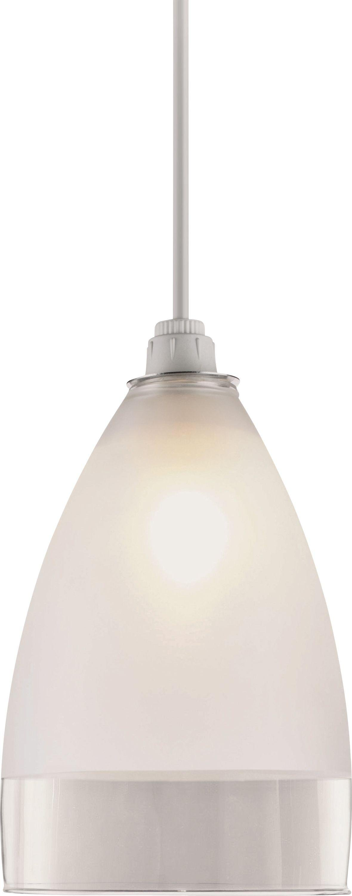 Argos Home Glass Pendant Shade - Clear and Frosted