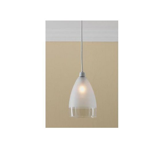 Ceiling Light Shade Argos : Buy home glass pendant shade clear and frosted at argos