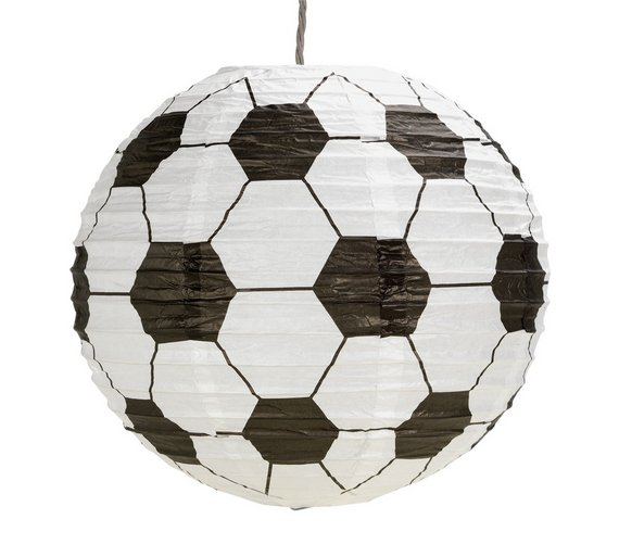 buy home football paper light shade at your. Black Bedroom Furniture Sets. Home Design Ideas