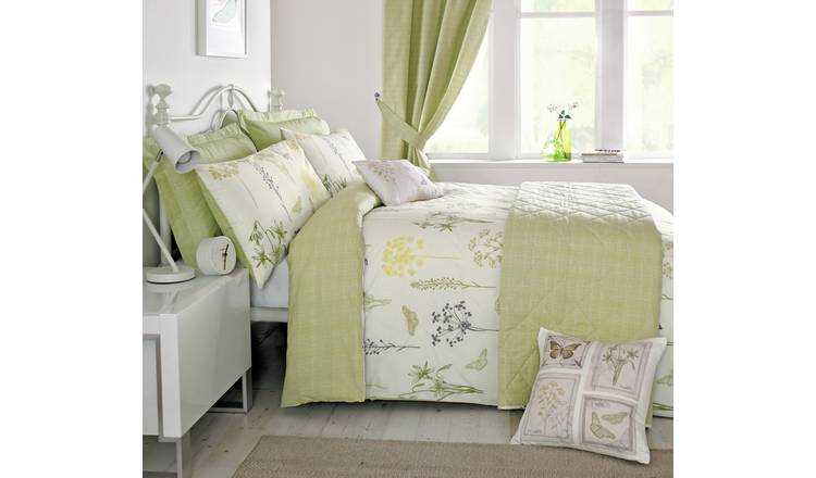 Dreams N Drapes Botanique Green Duvet Cover - Double.