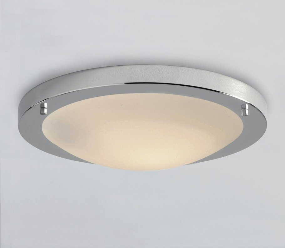 Image of Collection Energy Saving Bathrm Flush Ceiling Light - Chrome