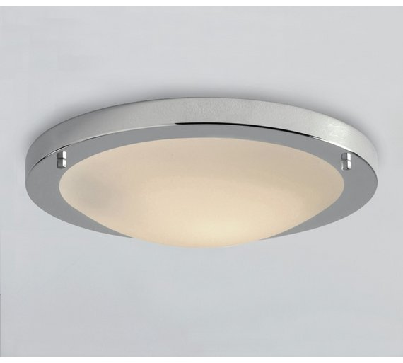 buy argos home energy saving chrome bathroom flush ceiling light