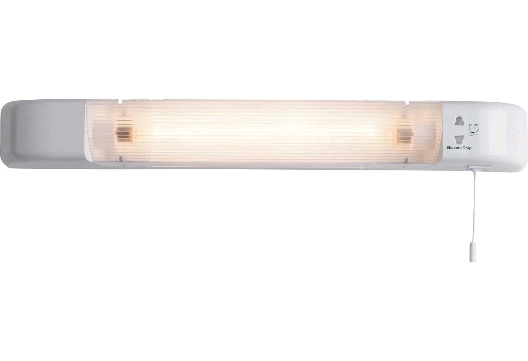 Bathroom Shaver Lights B&Q buy home ip20 shaver light with dual voltage shaver socket at