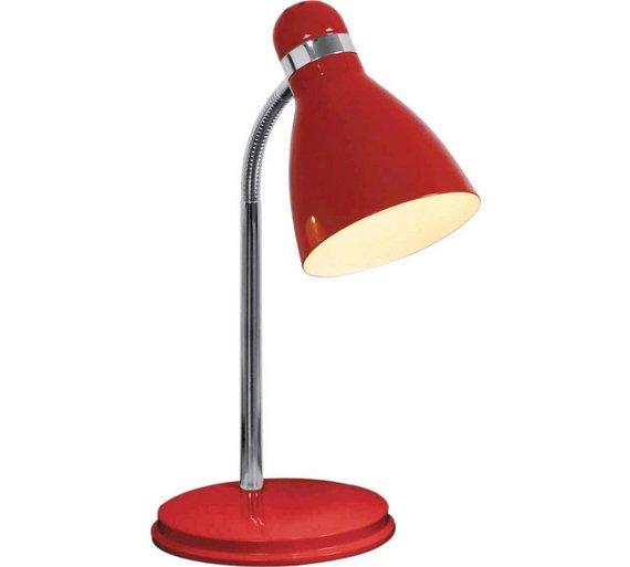 Argos Desk Lamps: ColourMatch Desk Lamp - Poppy Red432/7813,Lighting