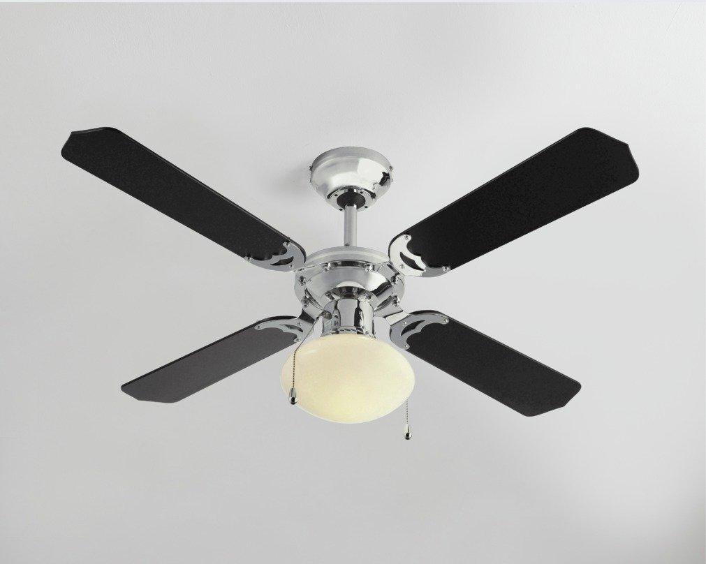 Argos Home Ceiling Fan - Black & Chrome