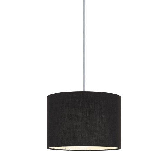Buy colourmatch fabric light shade jet black lamp shades argos colourmatch fabric light shade jet black aloadofball Images