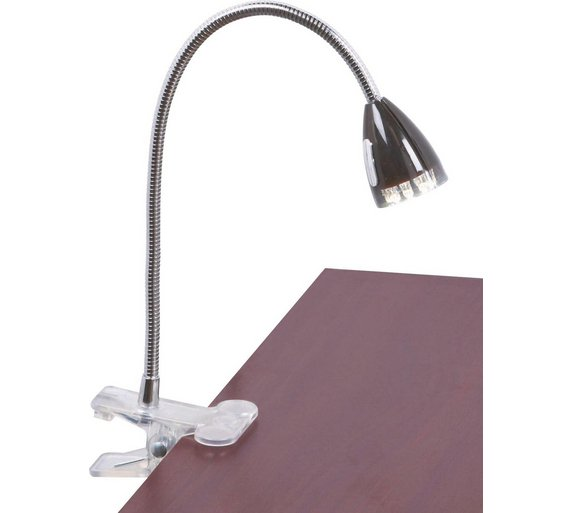 Argos Desk Lamps: Collection LED Clip Desk Lamp - Black432/8049,Lighting