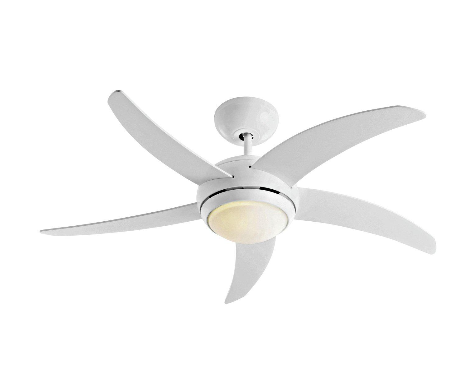 Argos Home Manhattan Ceiling Fan - White