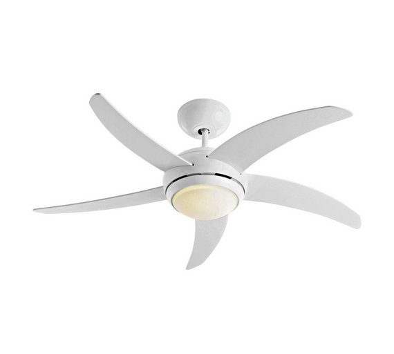 Buy collection manhattan ceiling fan white at argos your collection manhattan ceiling fan white mozeypictures Image collections
