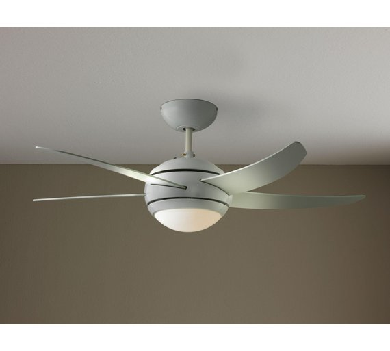 Buy collection manhattan ceiling fan white at argos your click to zoom aloadofball Choice Image