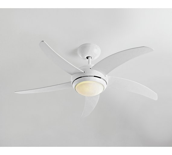 Collection manhattan ceiling fan white