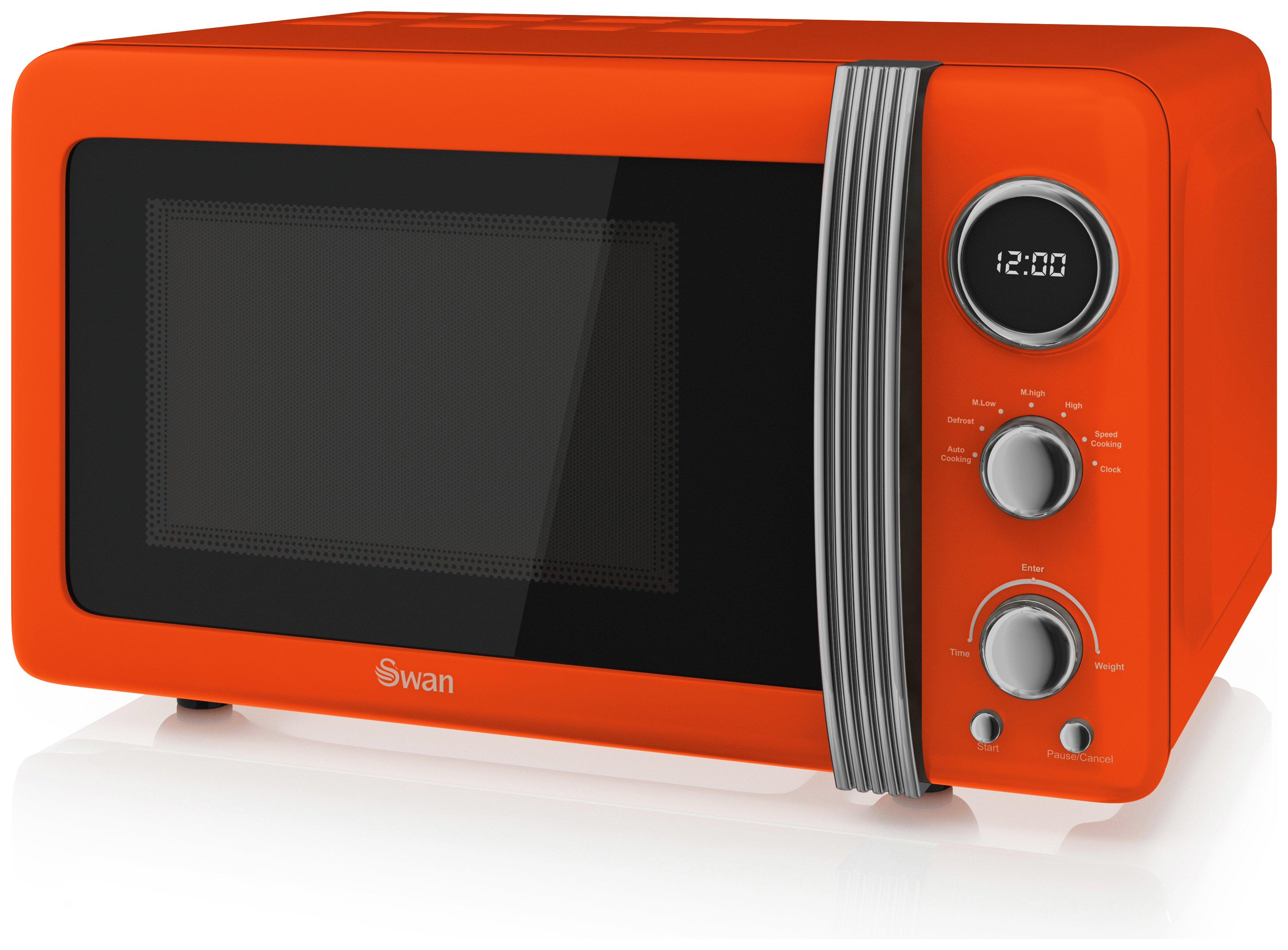 Swan - Standard Microwave -SM22030ON -Orange