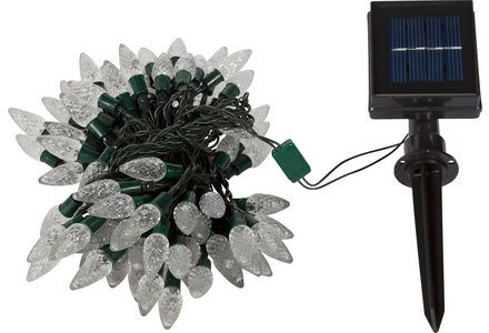 Image of the HOME Set of 100 LED Solar String Lights - White.